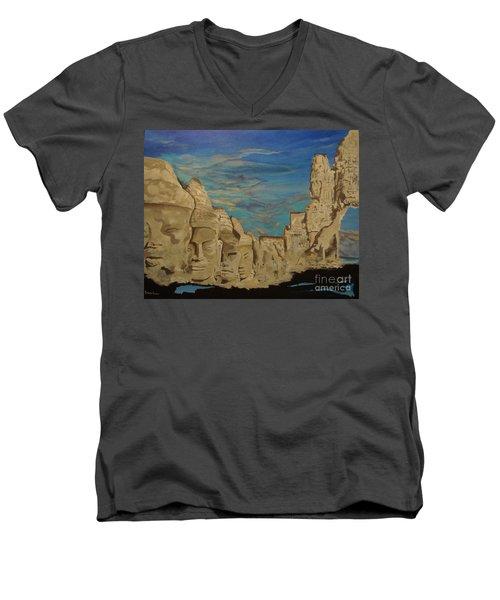 Ancient Clouds Men's V-Neck T-Shirt by Stuart Engel