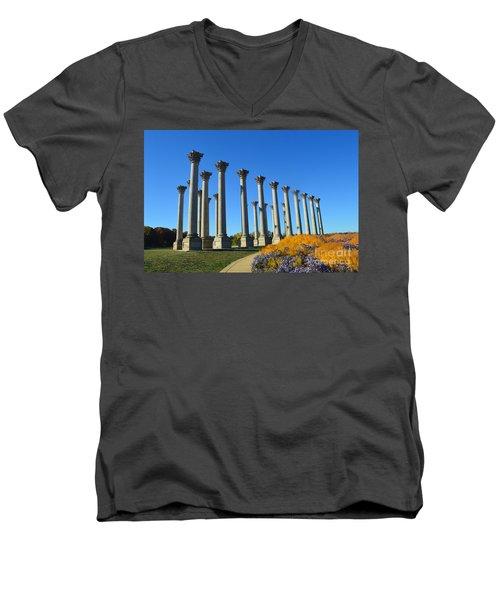 Ancient Corinthian Columns  Men's V-Neck T-Shirt