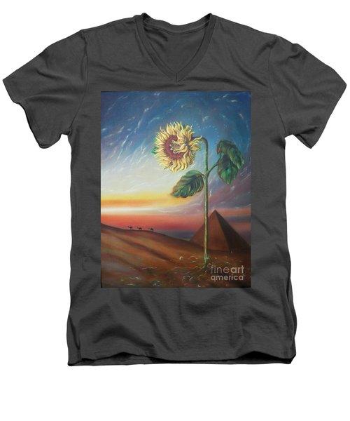 Blaa Kattproduksjoner              Ancient Energy Men's V-Neck T-Shirt