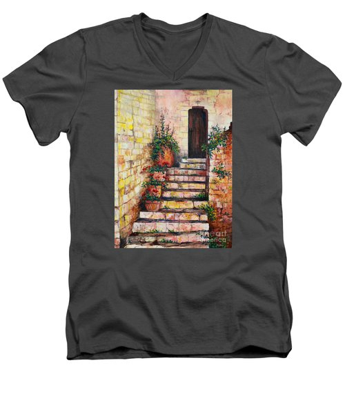 Ancient Stairway Men's V-Neck T-Shirt