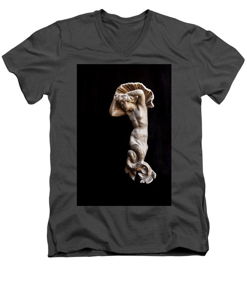Ancient Statue Of The Virgin Of The Sea Men's V-Neck T-Shirt