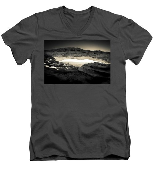 Ancient View Men's V-Neck T-Shirt by Kristal Kraft