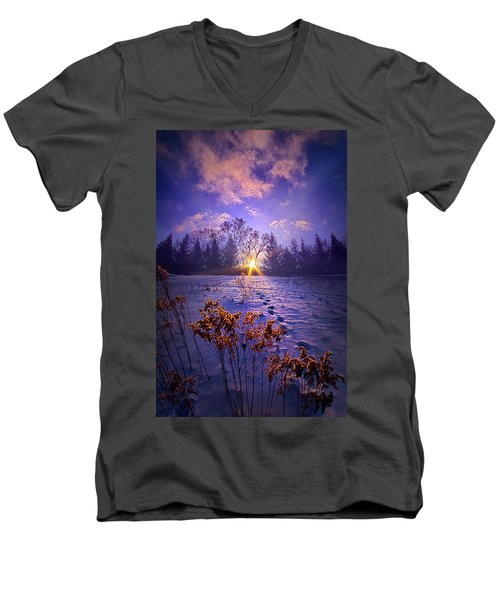 Men's V-Neck T-Shirt featuring the photograph And Back Again by Phil Koch
