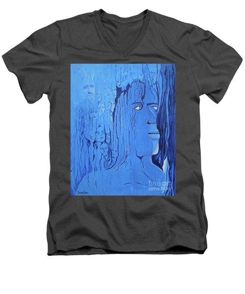 And If You Feel Men's V-Neck T-Shirt by Stuart Engel