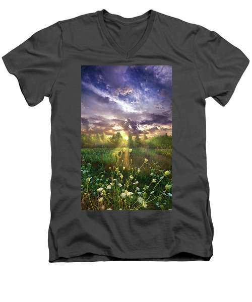 And In The Naked Light I Saw Men's V-Neck T-Shirt