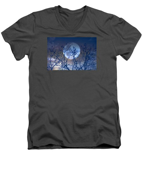 And Now Its Time To Say Goodnight Men's V-Neck T-Shirt by John Rivera