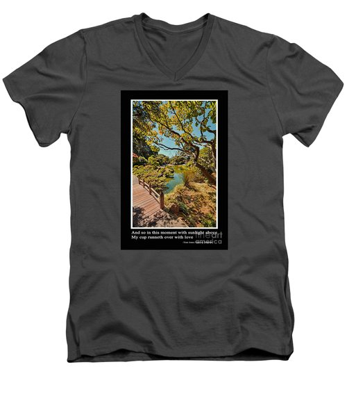 And So In This Moment With Sunlight Above Men's V-Neck T-Shirt by Jim Fitzpatrick