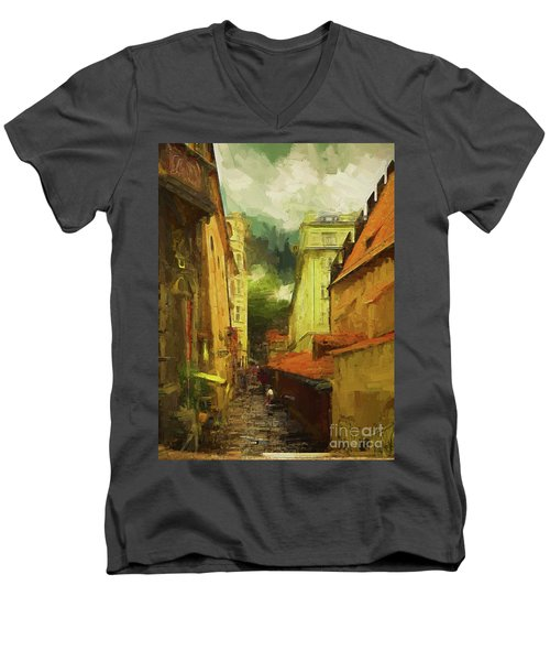 And Then It Rained Men's V-Neck T-Shirt