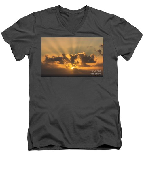 And Then There Was Day Five Men's V-Neck T-Shirt by Roberta Byram