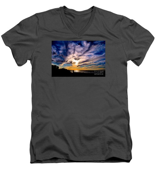 And Then There Was God Men's V-Neck T-Shirt by Margie Amberge