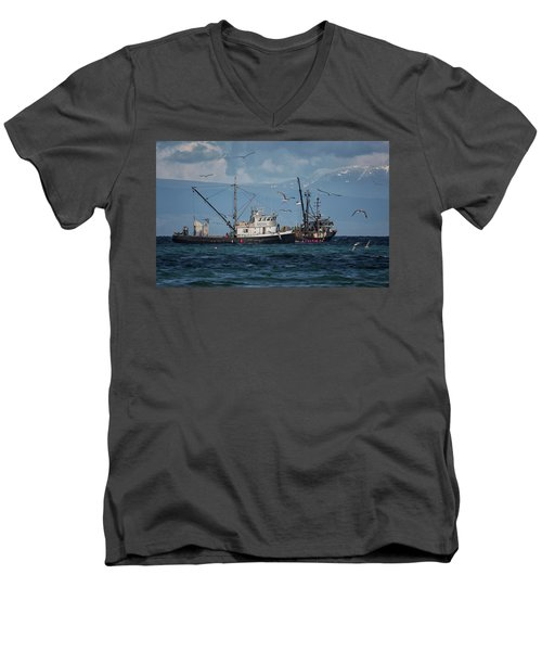 Men's V-Neck T-Shirt featuring the photograph Kornat And Western Investor by Randy Hall