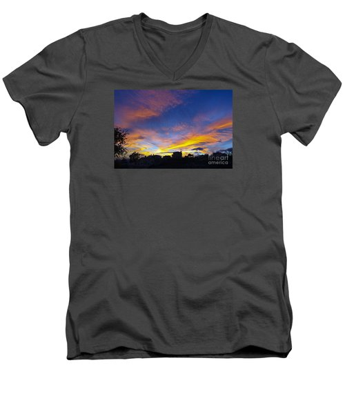 Andalusian Sunset Men's V-Neck T-Shirt by Perry Van Munster