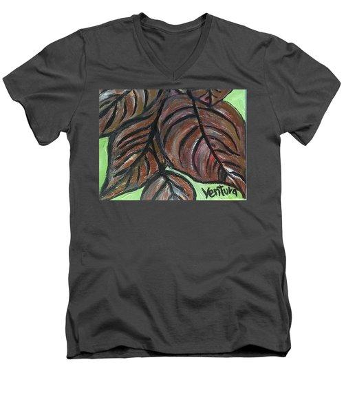 Andrea's Leaves - Fragments Of A  Dream Men's V-Neck T-Shirt