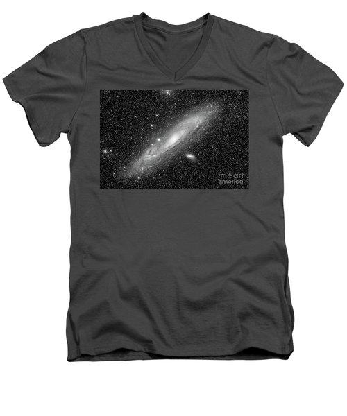 Andromeda Galaxy Men's V-Neck T-Shirt