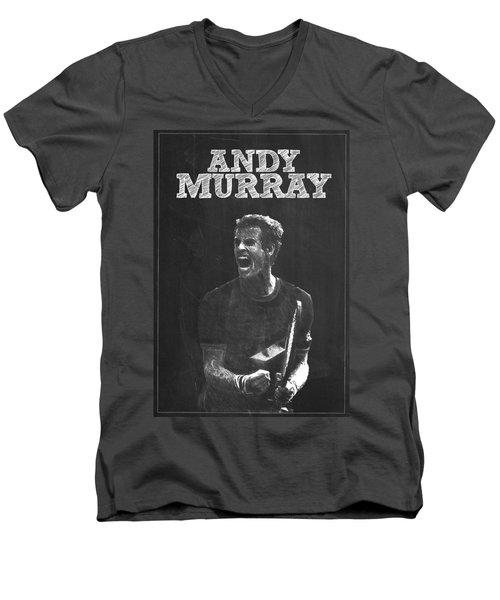 Andy Murray Men's V-Neck T-Shirt by Semih Yurdabak