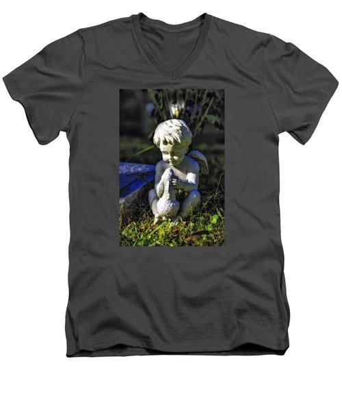 Angel 001 In Hdr Men's V-Neck T-Shirt by Michael White