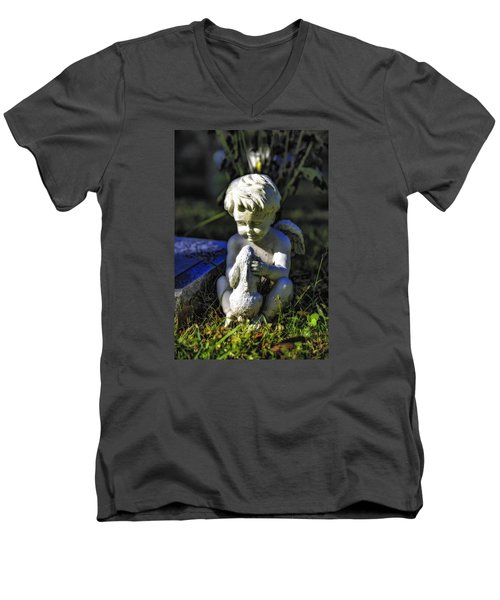 Angel 001 In Hdr Men's V-Neck T-Shirt