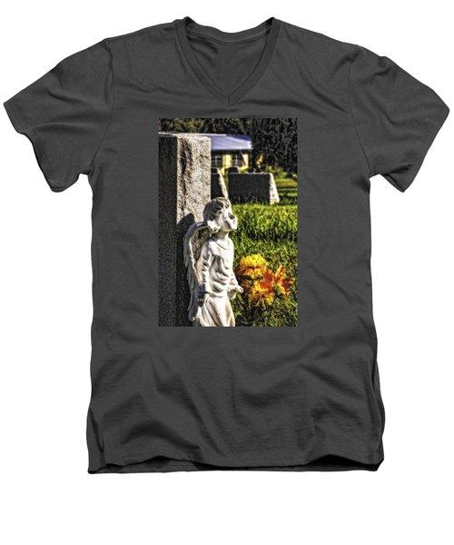 Angel 010 Men's V-Neck T-Shirt by Michael White