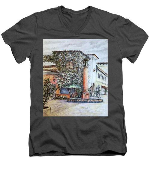 Angel At Santa Barbara Men's V-Neck T-Shirt by Danuta Bennett