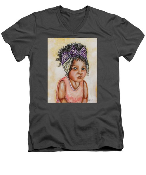 Angel Baby, The Painting Men's V-Neck T-Shirt