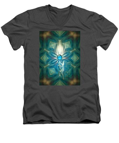 Angel Globe Men's V-Neck T-Shirt