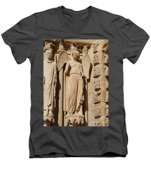 Angel In Reims Men's V-Neck T-Shirt