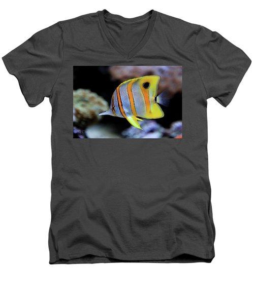 Angel In Striped Pajamas Men's V-Neck T-Shirt