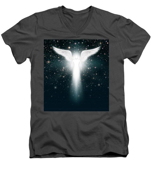 Angel In The Night Sky Men's V-Neck T-Shirt