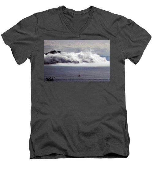 Angel Island Fog Men's V-Neck T-Shirt