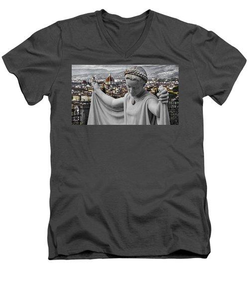 Angel Of Florence Men's V-Neck T-Shirt