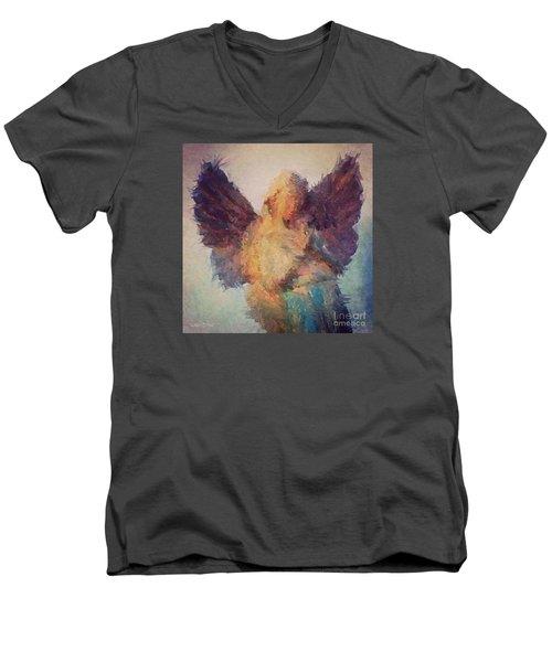 Angel Of Hope Men's V-Neck T-Shirt by Robert ONeil
