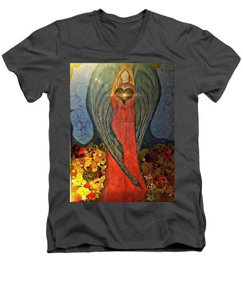 Angel Sails Waves Of Love Men's V-Neck T-Shirt