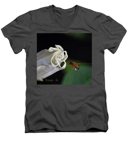 Angel Trumpet Men's V-Neck T-Shirt by Diane Giurco