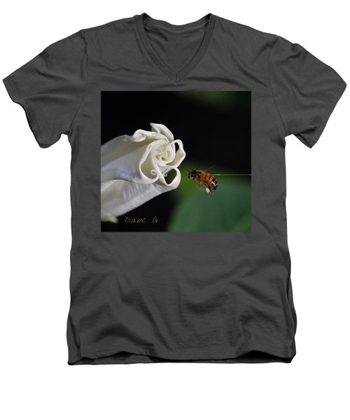 Angel Trumpet Men's V-Neck T-Shirt