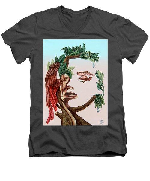Angel, Watching The Reincarnation Of Marilyn Monro. Op.2769 Men's V-Neck T-Shirt