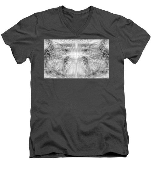 Angel Wings Pattern Men's V-Neck T-Shirt by James Larkin