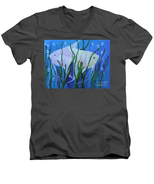 Angelfish Duo Men's V-Neck T-Shirt