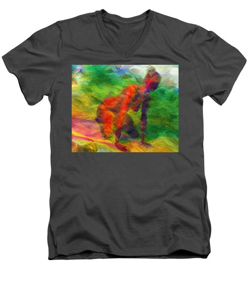 Angelie And The Kneeboard Men's V-Neck T-Shirt