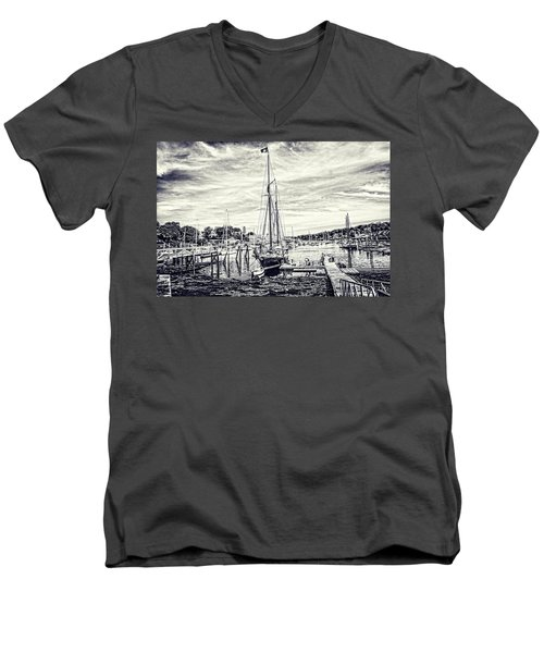 Men's V-Neck T-Shirt featuring the digital art Angelique Resting At Home by Daniel Hebard