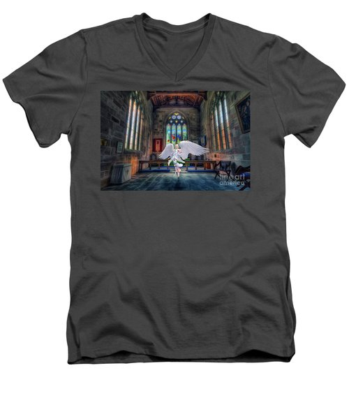 Angels Love And Guidance Men's V-Neck T-Shirt