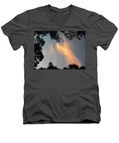 Angels Over The Front Yard Men's V-Neck T-Shirt