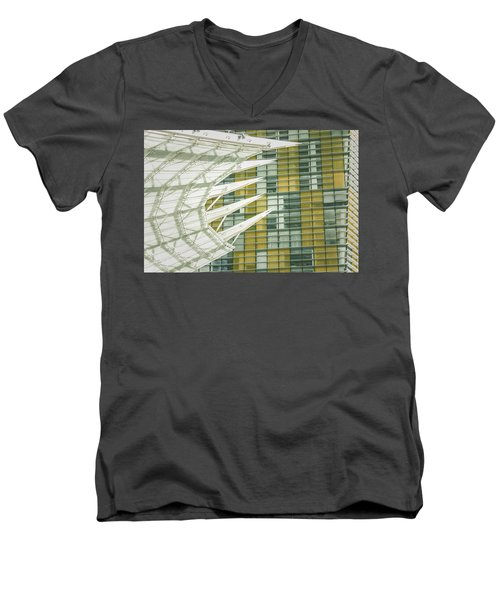 Men's V-Neck T-Shirt featuring the photograph Angle by Bobby Villapando