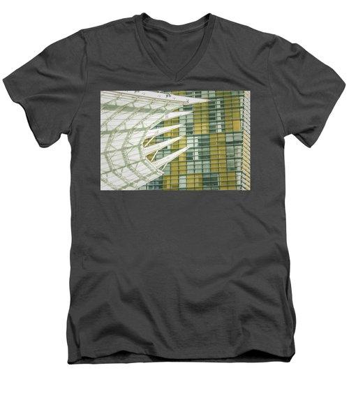 Angle Men's V-Neck T-Shirt by Bobby Villapando