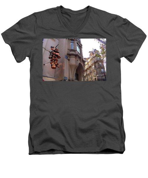 Angles And Details At Place Saint Andre Des Arts Men's V-Neck T-Shirt