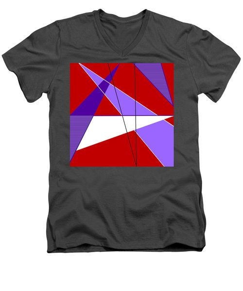 Angles And Triangles Men's V-Neck T-Shirt by Tara Hutton