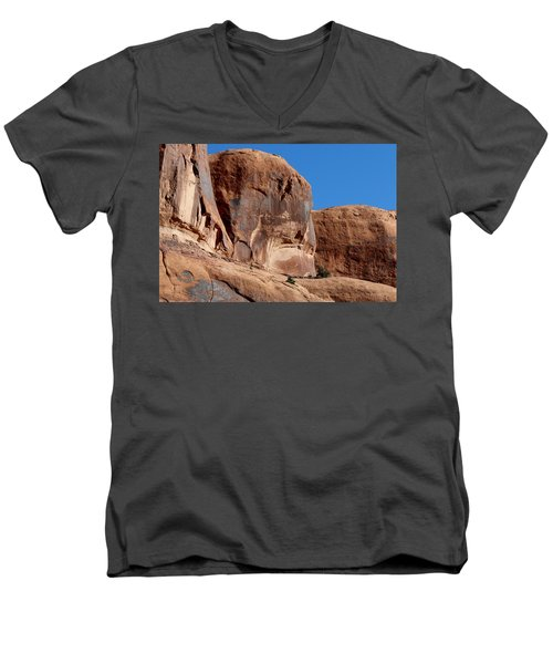 Angry Rock - 2  Men's V-Neck T-Shirt