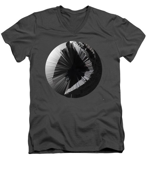 Angst IIi Painting As A Spherical Depth Map. 2 Men's V-Neck T-Shirt by Paul Davenport