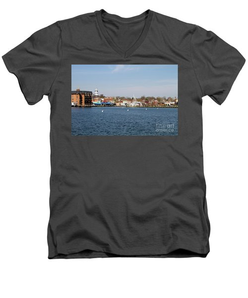 Annapolis City Skyline Men's V-Neck T-Shirt