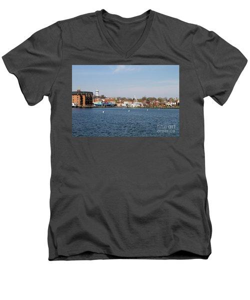 Annapolis City Skyline Men's V-Neck T-Shirt