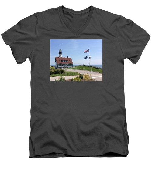 Portland Lighthouse ----- Edit Men's V-Neck T-Shirt